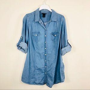 Lane Bryant Chambray Shirt Dress Size 18/20